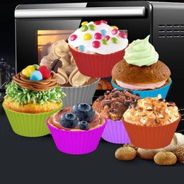 $enCountryForm.capitalKeyWord Australia - 2019 500pcs lot 7cm 8G Silicone Soft Round Cake Muffin Chocolate Cupcake Liner Baking Cup Mold