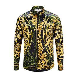 Men S Shirts Fabric Australia - 2018 Medusa new fashion brand men\'s long-sleeved business shirt letter combination canvas pattern comfortable fabric casual shirt