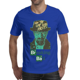 Broken Bad Australia - Men design printing breaking bad I am the one who Knocks blue t shirt printing undershirt graphic superhero champion shirts hip hop t s