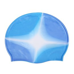 swimming hats for women NZ - Novelty elastic adults Waterproof PU fabric protects the ears long hair sports swim pool hat swimming cap for men and women