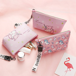 kids pen pouch NZ - Fashion Unicorn Cosmetic Bag Travel Case Portable Waterproof Wash Makeup Bag Kids Pencil Case Student Pen Pouch Organizer