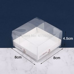 $enCountryForm.capitalKeyWord Australia - 300pcs lot 8*8*4.5cm Clear Egg Tart Box Muffin Cake Box Transparent PET Cupcake Box Food Pastry Packing