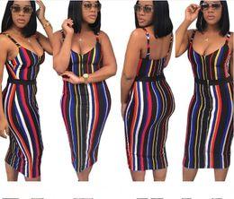$enCountryForm.capitalKeyWord Australia - summer dress for women Sexy Striped Dress For Woman Fashion Spaghetti Straps Low-Cut Bodycon Nightclub Party Dresses Free Shipping Wholesale