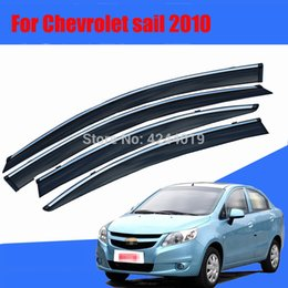 $enCountryForm.capitalKeyWord Australia - Car Awnings Shelters Window Visors Sun Rain Shield Sticker Cover Plating Chrome Trim Auto Accessories For Chevrolet Sail 2010