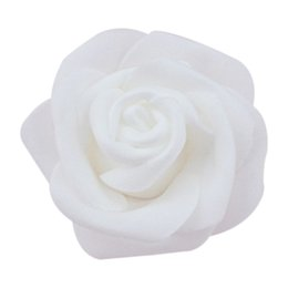 foam rose heads white NZ - High Quality 100pcs   bag 6cm Foam Rose Heads Artificial Flower Heads Wedding Decoration(white)