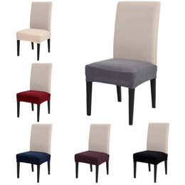 kitchen chairs Australia - New Arrival Stretch Spandex Chair Covers for Weddings Removable Elastic Chair Covers Kitchen Dinning Seat Case Slipcovers