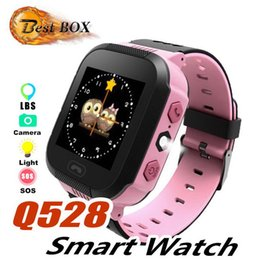 smart watch use dhl for shipping UK - Q528 Smart Watch Children Wrist Watch Waterproof Baby Watch With Remote Camera SIM Calls Gift For Kids by Free shipping DHL