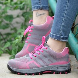 $enCountryForm.capitalKeyWord Australia - Women Steel Toe Safety Shoes Proof Work Boots Breathable Sneakers Comfortable Anti-smashing Anti-piercing Industrial Shoes Woman