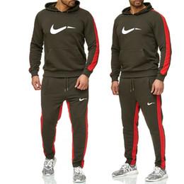 2019Новая толстовка с капюшоном, свитер + бегунов спортивные штаны зима осень толстовка с капюшоном хип-хоп человек печати спортивные костюмы на Распродаже