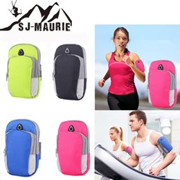 Gym Arm Cell Phone Holder Australia - Portable Mini Phone Bag 6 Inch Headset Hole Running Arm Bag Jogging Gym Armband Cell Phone Keys Holder Bags Mobile Phones Holder #577171