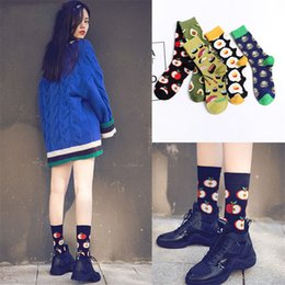 8d14b3e58bc Food Pattern Valentine s Day Lover Socks Unisex Avocado Omelette Burger  Sushi Fruit Print Mid Carf Socks Mid Long Cotton Fashion Stockings