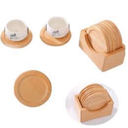 $enCountryForm.capitalKeyWord Australia - 6pcs set Gift Home Tool Cup Pad Heat Insulation Anti Slip Table Decoration Mat Wooden Round Kitchen Office Coffee