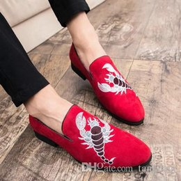 $enCountryForm.capitalKeyWord UK - Spring new club casual lazy human bean shoes men British tip embroidery hair stylist tide shoes men's small shoes