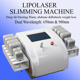 Laser Lipo online shopping - High Quality Dual Wavelength nm nm Diode Lipo Laser Machine Big Small Pads For Arms Thighs Back Face Fat Reduction