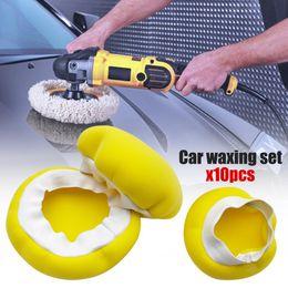 "Discount car polishing sponge - 10PCS Car Polisher Pad Bonnet 5-6"" 7-8"" 9-10"" 3 sizes Soft Microfiber Sponge Polishing Bonnet Buffing Pad"