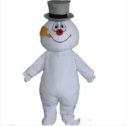 $enCountryForm.capitalKeyWord Australia - 2019 Factory sale Hottest Frosty Snowman Mascot Costume Walking Adult Cartoon Clothing Free Shipping