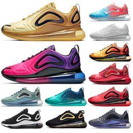 promo code ad5cf 2a8d6 Nouveau 720 Chaussures De Course Pour Hommes Femmes Lever Du Soleil Coucher  Du Soleil Aurores Boréales Gris Carbone Or Mer Forêt Éclipse Total Sport  Sneaker ...