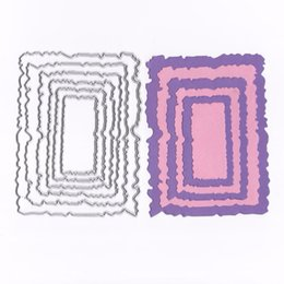 Card die punCh online shopping - Metal Cutting Dies Scrapbooking Square Basic Wavy Frame Papercraft Card Album Punch Christmas stamps Art Cutter Die Cut