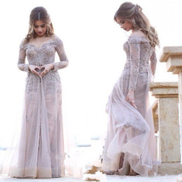 5ec98573af MusliM woMen party dresses online shopping - 2019 New Long Sleeves Arabic Prom  Party Gown Muslim
