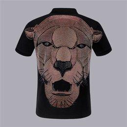 Wholesale head polo shirts resale online – Men s Polo Shirt Business Summer Fashion Tiger Head Cotton Classic Short Sleeve Tops Hip Hop PP Man Casual Slim Polo Shirts