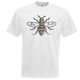 $enCountryForm.capitalKeyWord Australia - Mens White Bee Free Wholesale Gay Pride T-Shirt LGBTQ Printed Top UK