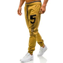 Wholesale men slim fit tracksuit for sale – designer 2019 Men Sport Pants Long Trousers Tracksuit Fitness Workout Joggers Gym Sweatpants Slim Fit Sweatpants Hip Hop Elastic New