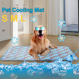 cat beds medium NZ - 1PCs Pet Cat Summer Cooling Mat Dog Cat Ice Pad Pet Cool Mat Bed Cushion Summer Keep Cool Multi-functional Fiber Cushion