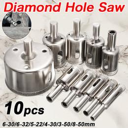 $enCountryForm.capitalKeyWord Australia - 10PCS set 8-50mm Diamond Coated Core Hole Saw Drill Bits Tool Cutter For Tiles Marble Glass Granite Drilling