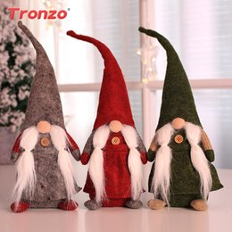 $enCountryForm.capitalKeyWord Canada - Tronzo Christmas Santa Claus Doll Toy Christmas Decorations For Home Party Kids Favors Ornaments New Year Xmas Decor