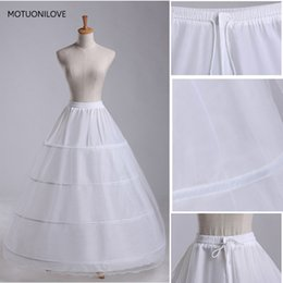 $enCountryForm.capitalKeyWord Australia - Wholesales White Long Wedding Crinoline 4 Hoops Petticoats Wedding Dress Accessories Jupon Tulle Femme Vestido Para