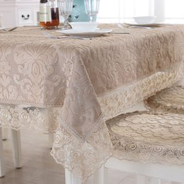 $enCountryForm.capitalKeyWord Australia - Europe luxury embroidered tablecloth table dining table cover cloth Lace coffee cloth chair cushion cover