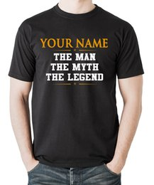 dcf89b34 Personalized T-shirt Gift [Your Name] The Men The Myth The Legend Men's T-shirts  Cool Tops Men'S Short 2018 Newest Men'S Funny Top Tee