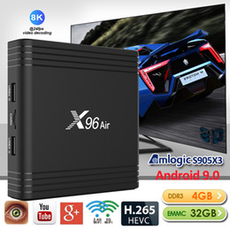 Wholesale NEW X96 Air S905X3 Android 9.0 TV Box 4GB 32GB 2.4G+5.0G WIFI Better than X96 Mini TX3 Mini