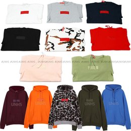 Black hoodie red liner online shopping - hot sale UNHS TOP new Classic unionhouse box logo hoodie embroidery letter marka Fleece Autumn Winter Coat colors