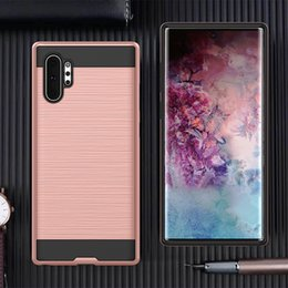$enCountryForm.capitalKeyWord NZ - Brushed Design Slim Hybrid Armor Cell Phone Cases For Samsung Galaxy S10 Note 10 Plus Iphone XS Huawei P30 Pro Classic Mobile Case