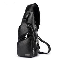 $enCountryForm.capitalKeyWord Australia - Men's Crossbody Bags Men's USB Chest Bag Designer Messenger bag Leather Shoulder Bags Diagonal Package 2018 new Back Pack Travel