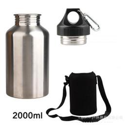 $enCountryForm.capitalKeyWord Australia - Sports Drink Water Bottle 2l With New Hook 1 Set Protector Bag Hot Stainless Steel N1621 Y19070303