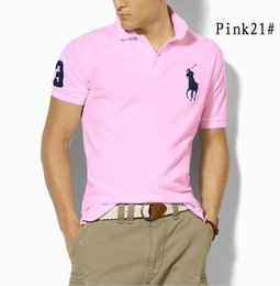 Big Man Polo Australia - Brand Clothing Male Fashion Casual Men Big Horse Embroidery Polo Shirts Solid Casual Polo Tee Shirt Tops High Quality Slim Fit S-5XL