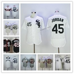 55b265b3973 High quality Mens 45 Michael jord jerseys Home Away Road Embroidered cheap  wholesale jerseys S-XXXL Accept Mix Orders