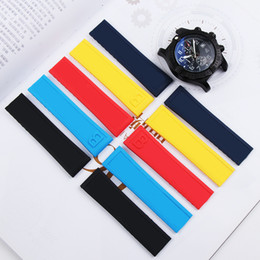 $enCountryForm.capitalKeyWord Australia - Waterproof 22mm Rubber Silicone Watch Band For Breitling Avenger Series Watches Strap Watchband Man Fashion Wristband Black Blue Yellow Red