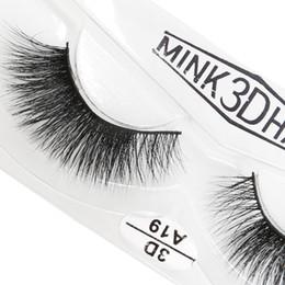 Real Mink False Eyelashes Australia - A19 3D A series 100% Real mink Eye Lashes Thick false Eyelashes a pair of false eyelashes with Crystal box