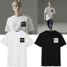 Exo Black Shirt Australia - Kpop EXO Baekhyun Tshirt New Tops Short Sleeve Clothes Men Women Cotton T-shirt