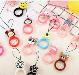 $enCountryForm.capitalKeyWord Australia - Cute Cartoon Design Smart Phone Lanyards Finger Ring Short Rope For iPhone X Xs Xiaomi Huawei Keys USB Flash Drives
