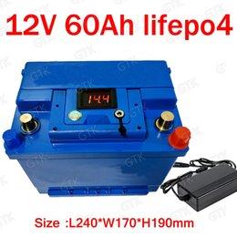 GTK литиевая батарея 12V 60AH lifepo4 BMS 4S 12.6V lifepo4 для 900 Вт солнечной энергии RV инвертор для катера RV + 5A Зарядное устройство на Распродаже