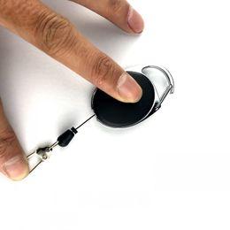 $enCountryForm.capitalKeyWord Australia - Free DHL Mini Multifunctional Retractable Keychain Black Anti-Lost Keychains Buckle Recoil Ring Pull Clip Keyring Outdoor gear 2019 H606Q F