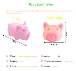 Cartoon soft cute cute pink pig whole person toy vent pig squeezing music pinch called decompression vent toy on Sale