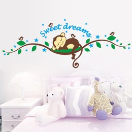 $enCountryForm.capitalKeyWord Australia - Monkey Forest DIY Art Vinyl Quote Wall Sticker Bedroom Decal Mural Wallpaper Nursery Baby Kids Children Room decoration