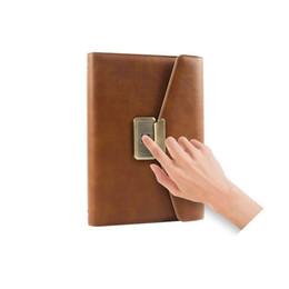 $enCountryForm.capitalKeyWord UK - Fingerprint lock notebook new style new fashion trend journal top secret notebooks for gift and rewarding