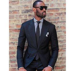 SunShine dreSS online shopping - XLY Sunshine Slim Fit Black Groom Tuxedos Notched Lapel Men s Wedding Dress Suits Prom Clothing Holiday Suit Blazer Tux Jacket Pants
