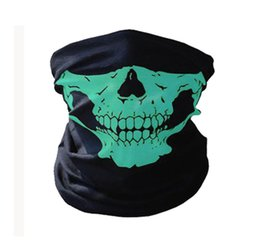 mask face shield Australia - Motorcycle Face Mask Shield Halloween Bicycle Ski Skull scary Half Face Mask Ghost Scarf Multi Use Neck Warmer COD balaclava